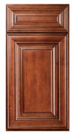 Kitchen Cabinets or Bathroom Vanities Charleston Series in Saddle Brown